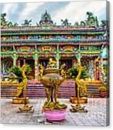 Green Temple Canvas Print