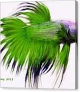 Green Tropical Fish Canvas Print