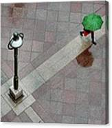 Green Umbrella Canvas Print