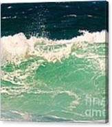 Green Wave Pacific Grove Ca  Canvas Print