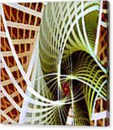 Green Weave Canvas Print