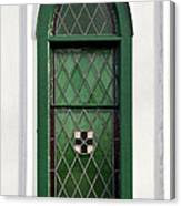 Green Window Canvas Print