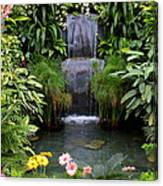 Greenhouse Garden Waterfall Canvas Print