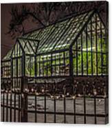 Greenhouse In Winter #2 Canvas Print