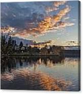 Greenlake Autumn Sunset Canvas Print