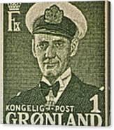 Greenland Stamp Circa 1950 Canvas Print