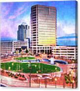 Greensboro Center City Park II Canvas Print