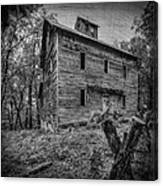 Greer Mill Black And White Canvas Print