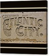 Greetings From Atlantic City Canvas Print