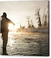 Greg Houska Fly Fishing On The Provo Canvas Print