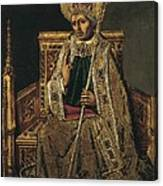 Gregory I The Great, Saint 540-604 Canvas Print