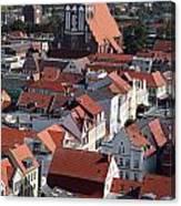 Greifswald Roofscape Pomerania Canvas Print