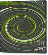 Grey And Green Twirl Canvas Print