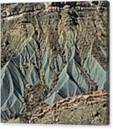 Grey Cliffs In Waterpocket Fold  Canvas Print