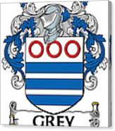 Grey Coat Of Arms Irish Canvas Print