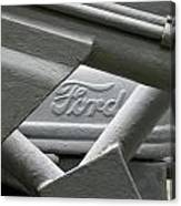 Grey Ford Tractor Logo Canvas Print