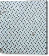 Grey Iron Industrial Floor As Background Canvas Print