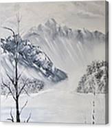 Grey Mountains Canvas Print