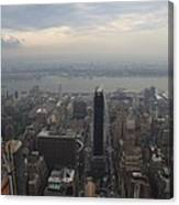 Grey Sky Over Manhattan Canvas Print