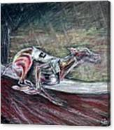 Greyhound Number Three Canvas Print
