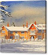 Griffin House School - Snowy Day Canvas Print