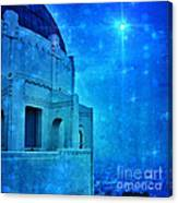 Griffith Park Observatory At Night Canvas Print