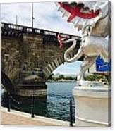 Griffin Charms The London Bridge Canvas Print