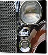 Grill And Headlight Canvas Print