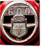 Grill Logo Detail - 1950s-vintage Ford 601 Workmaster Tractor Canvas Print
