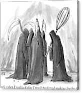 Grim Reapers Stand In A Circle Canvas Print
