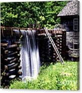 Grist Mill And Water Trough Canvas Print