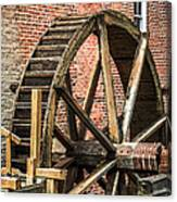 Grist Mill Water Wheel In Hobart Indiana Canvas Print