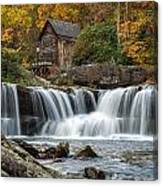 Grist Mill With Vibrant Fall Colors Canvas Print