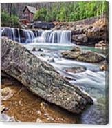 Gristmill At The Creek Canvas Print
