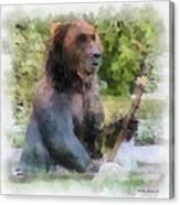 Grizzly Bear Photo Art 01 Canvas Print
