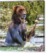 Grizzly Bear Photo Art 02 Canvas Print