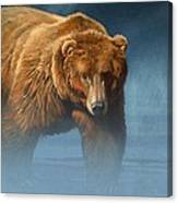 Grizzly Encounter Canvas Print