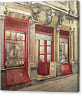 Grocery Store In Old Town Canvas Print