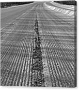 Grooved Road Canvas Print