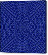Mandala Blue Marvel Canvas Print