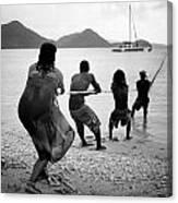 Gros Islet Fishermen Canvas Print