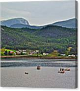 Gros Morne Mountain Over Bonne Bay At Norris Point In Gros Morne Np-nl Canvas Print
