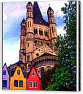 Gross St. Martin In Cologne Germany Canvas Print