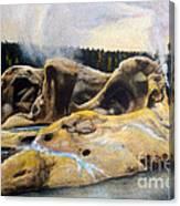 Grotto Geyser Yellowstone Np 1928 Canvas Print