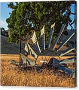 Grounded Windmill Canvas Print