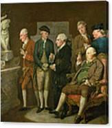 Group Of Connoisseurs Canvas Print