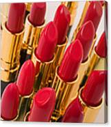 Group Of Red Lipsticks Canvas Print
