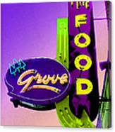 Grove Fine Food Var 2 Canvas Print