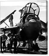 Grumman Ea-6b Prowler B-w Canvas Print