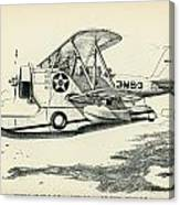 Grumman J2f-2a  Amphibian Canvas Print
